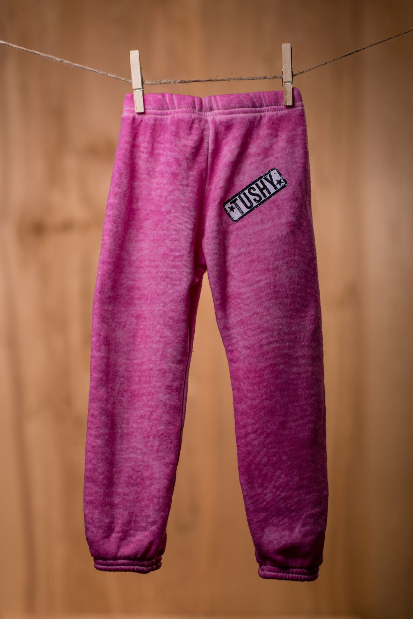 Destroyed, Pink Wash Fleece Sweatpant