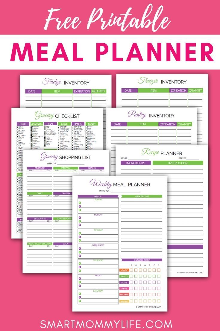 Meal Planning for Beginners Guide  How To Meal Plan for a Week (2019 is part of Meal planner printable, Free meal planning printables, Meal planner printable free, Meal planning printable, Meal planning calendar, Meal planning binder - A simple meal planning for beginners guide that will teach how to meal plan for a week to save you time and money  A system to take the stress out of cooking dinner for the family