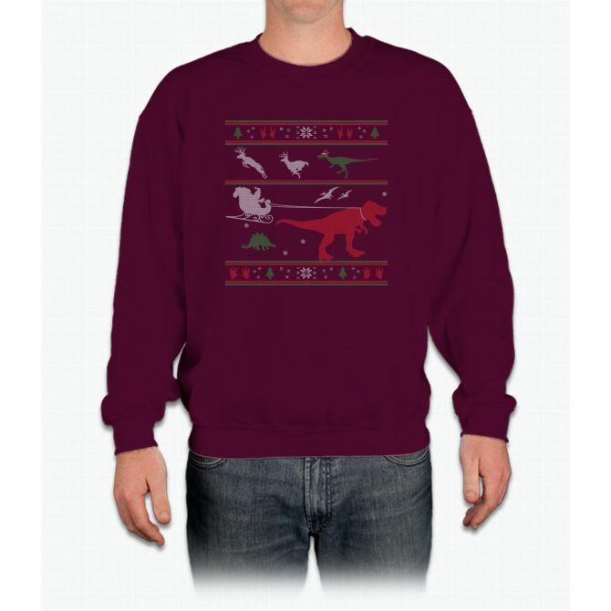 Funny Animal Merry Christmas T Shirt Crewneck Sweatshirt