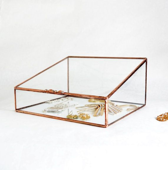 Glass Box Large Glass Display Box Glass Jewelry Box Wedding