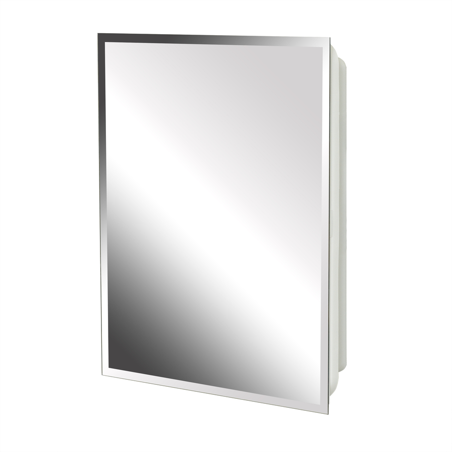 Project Source 16 In X 20 In Rectangle Surface Recessed Mirrored