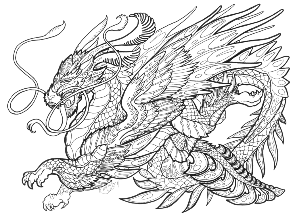 Beautiful Dragon Mythical Creatures Drawings Monster Coloring Pages Coloring Pages