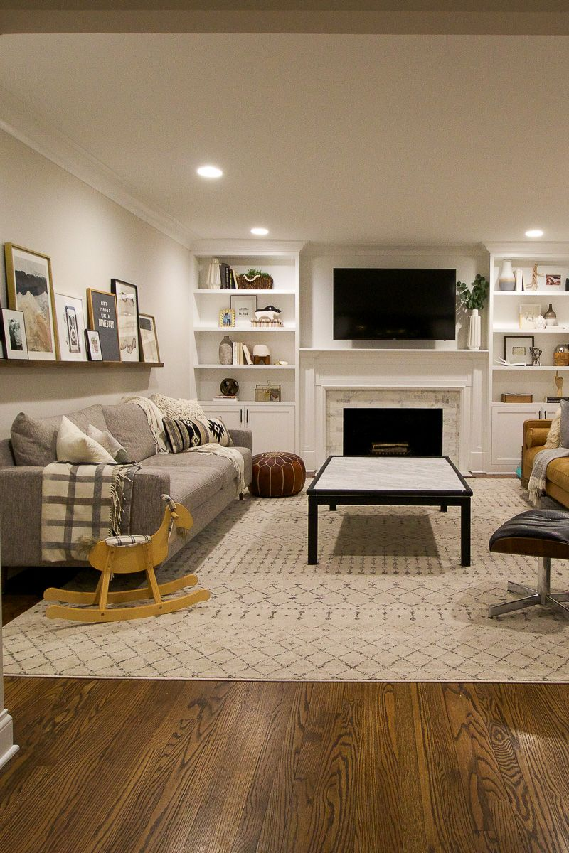 A Cozy Suburban Ranch After Dark Home Tour Family Room