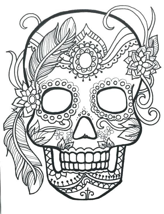 Mandala Skull Coloring Pages Free For Adults To Print Printable