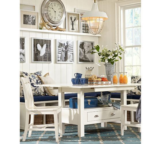 Ryland Drop Leaf Table Amp Modular Banquette Pottery Barn