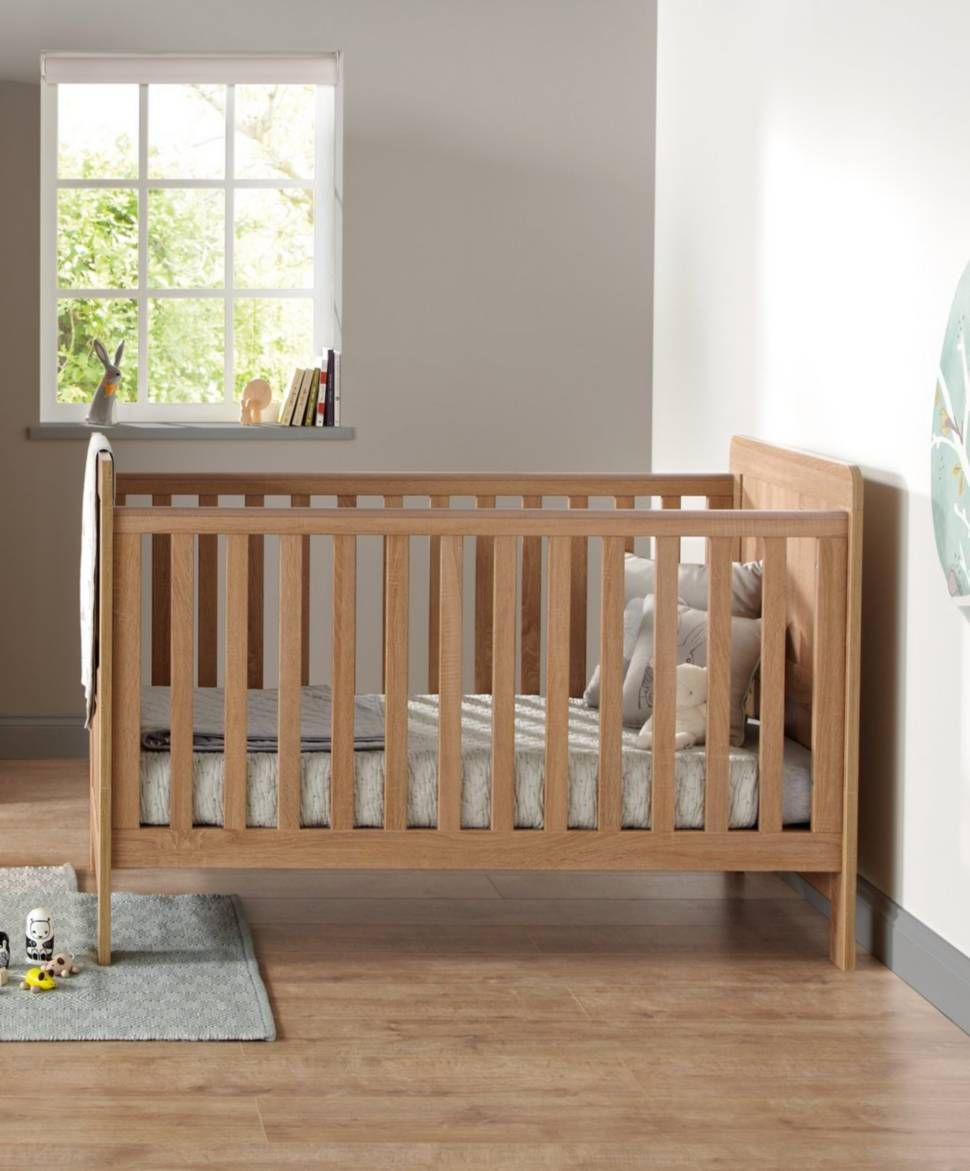 atlas convertible cot toddler bed 3 in 1 oak effect toddler