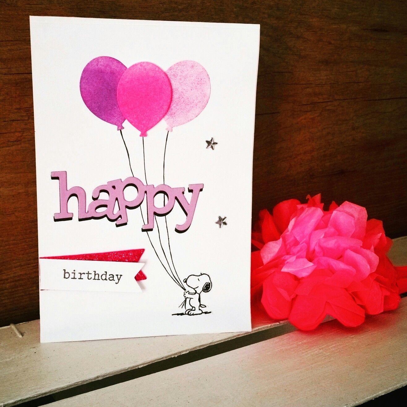 Biglietto d'auguri con snoopy! - birthday cards - handmade