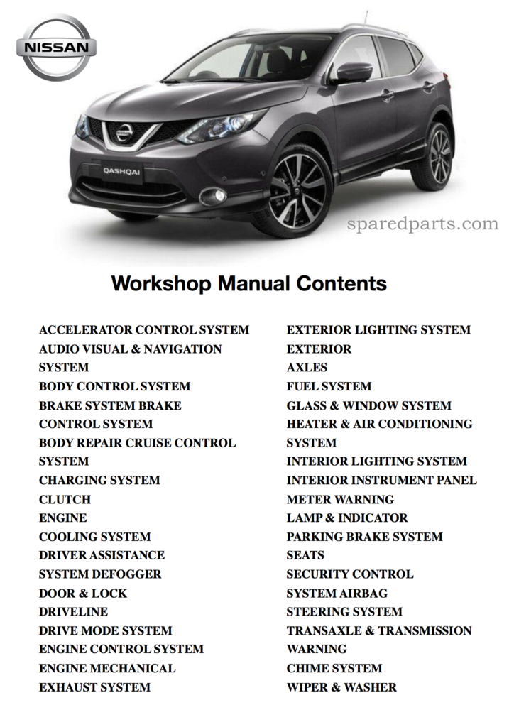 Nissan Qashqai J11 2013 2017 Workshop Manual 3 95 Nissan Qashqai Nissan Workshop