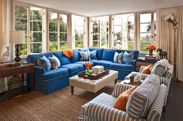 20 Impressive Blue Sofa In The Living Room Home Design Lover Blue Sofas Living Room Blue Sofa Living Blue Family Rooms