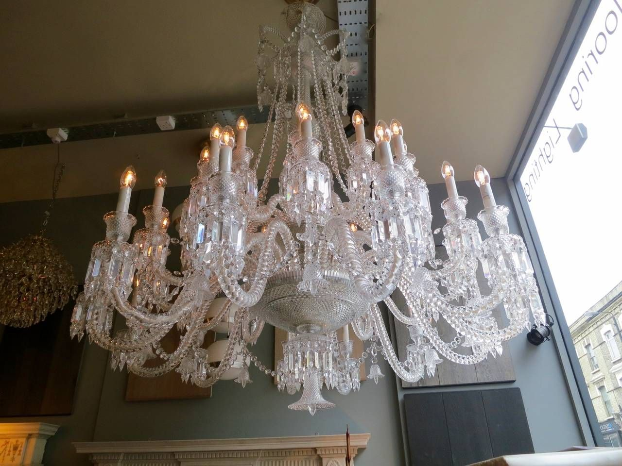 Large Thirty Six Arm Baccarat Zenith Chandelier Designed By Philippe Starck 4