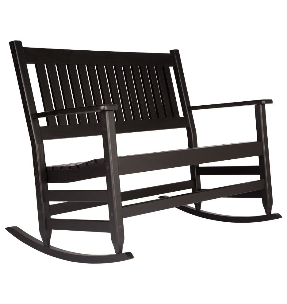 Astounding Classic Double Rocking Chair Black D3702 Need In 2019 Creativecarmelina Interior Chair Design Creativecarmelinacom