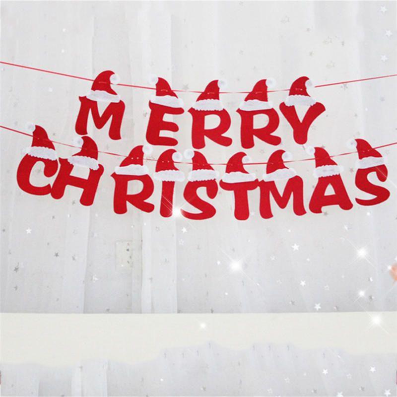 DIY Xmas Decors Cloth Flags Garland Floral Bunting Banners Christmas - christmas decors