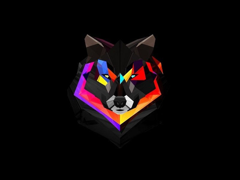 Abstract Wolf Xhd Wallpaper On Mobdecor Polygon Art Iphone 5s Wallpaper Wolf Wallpaper