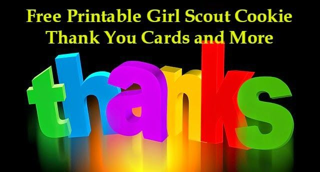 Free Printable Girl Scout Cookie Thank You Cards Labels And More