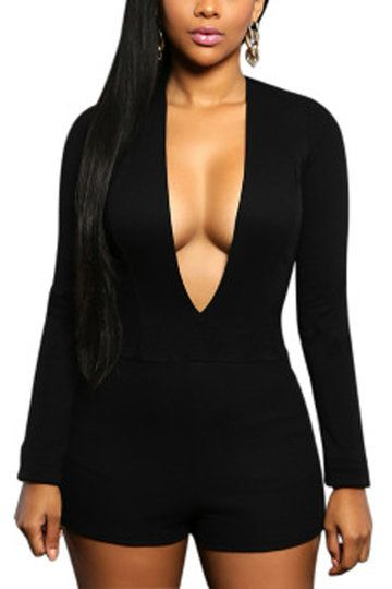 Black Sexy Bodycon Playsuit