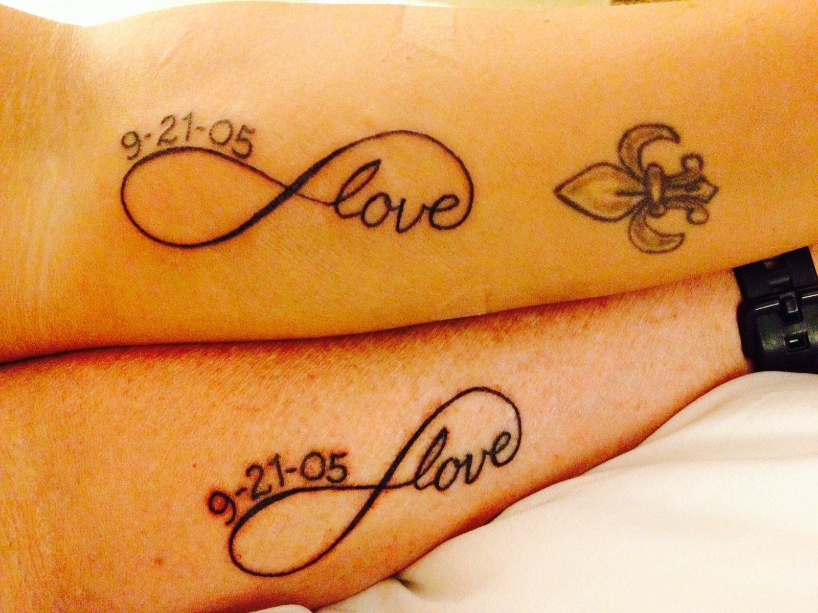 our couples tattoo infinity with anniversary date things i love. Black Bedroom Furniture Sets. Home Design Ideas