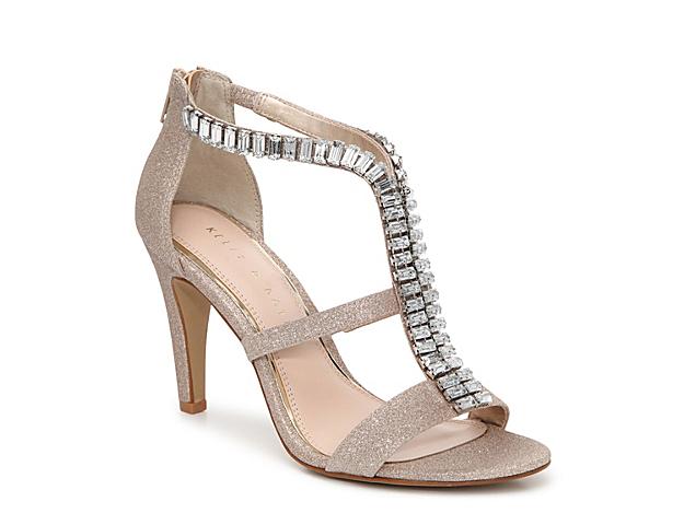 Women Cadari Sandal -Gold Metallic Glitter Mesh