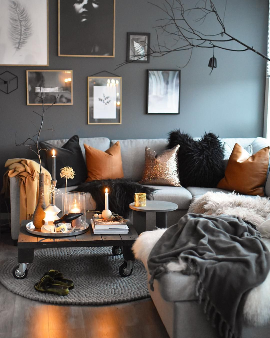 Grey Living Room Ideas With Feature Wall
