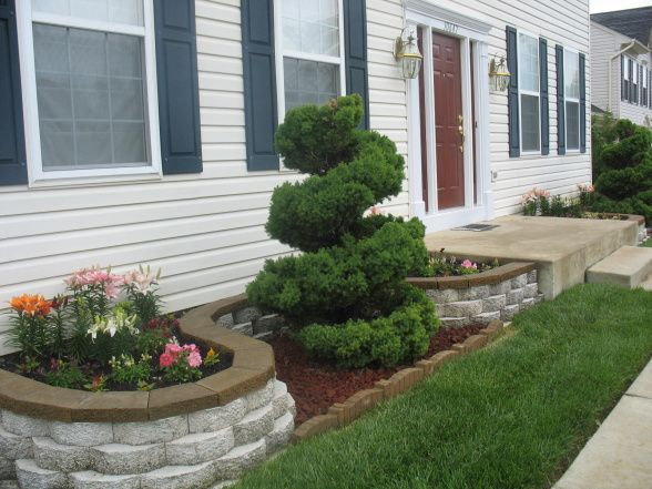 diy flower beds | my retainer wall, retainer wall/ flower bed