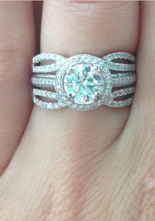 Heirloom Micropave Halo Round Diamond In Platinum With Diamond Enhancer Guard As Bands So In