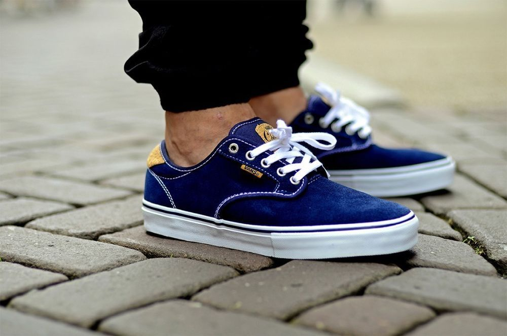 d5fbf98310 Vans CHIMA FERGUSON PRO (Cork) Navy Khaki Men s Skate Shoes 11.5  Vans   Skateboarding