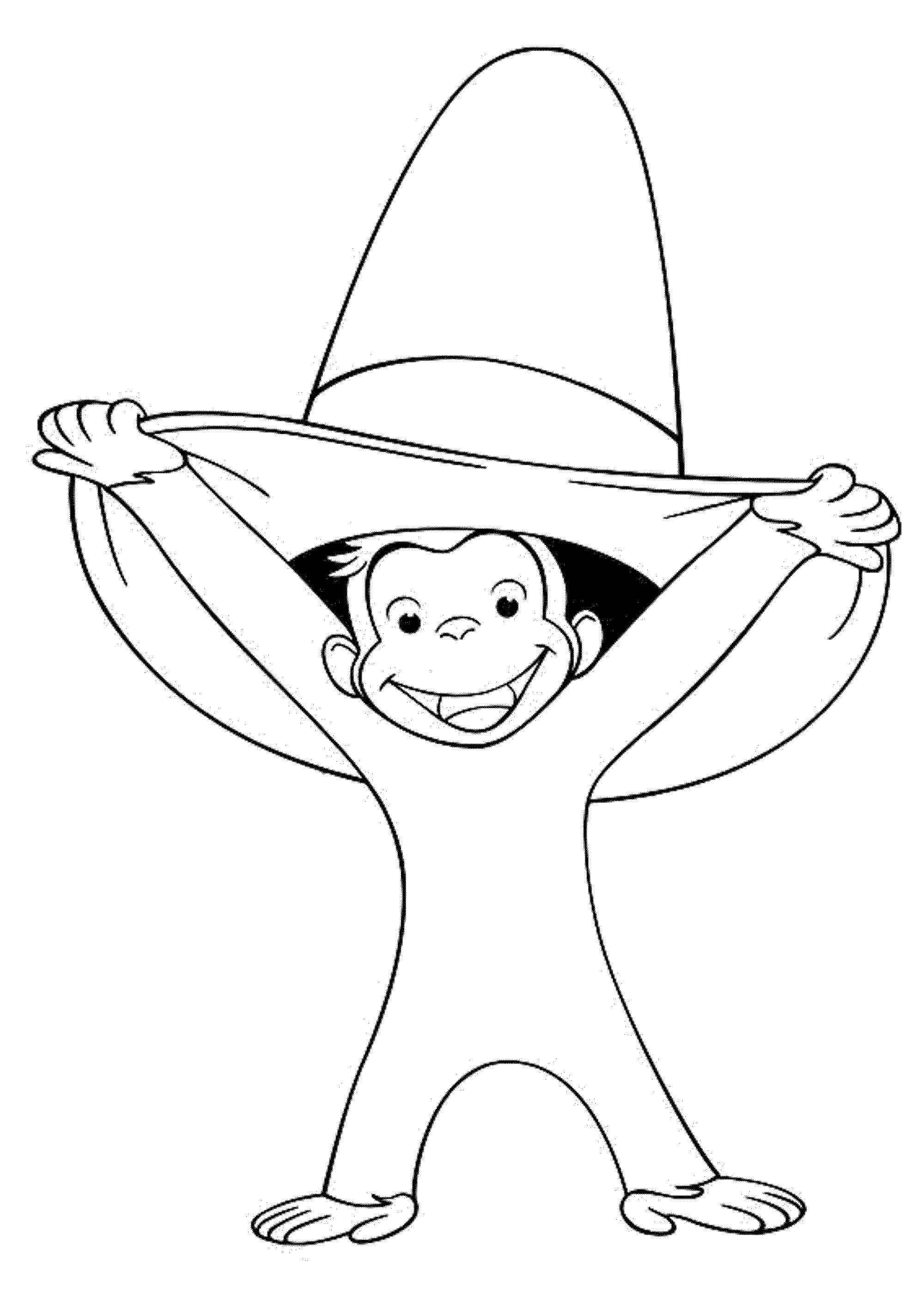 curious george coloring page - Google Search | 1st birthday ...