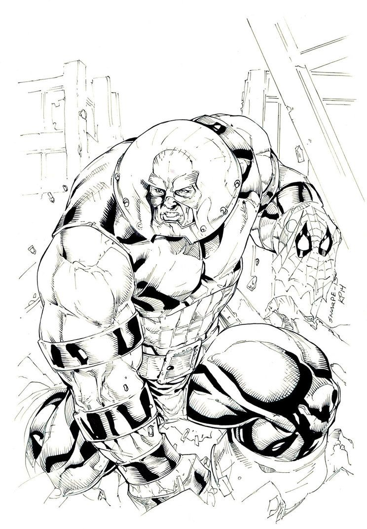 Juggernaut Inks By Prizzy726 Adult Coloring Pages Comix