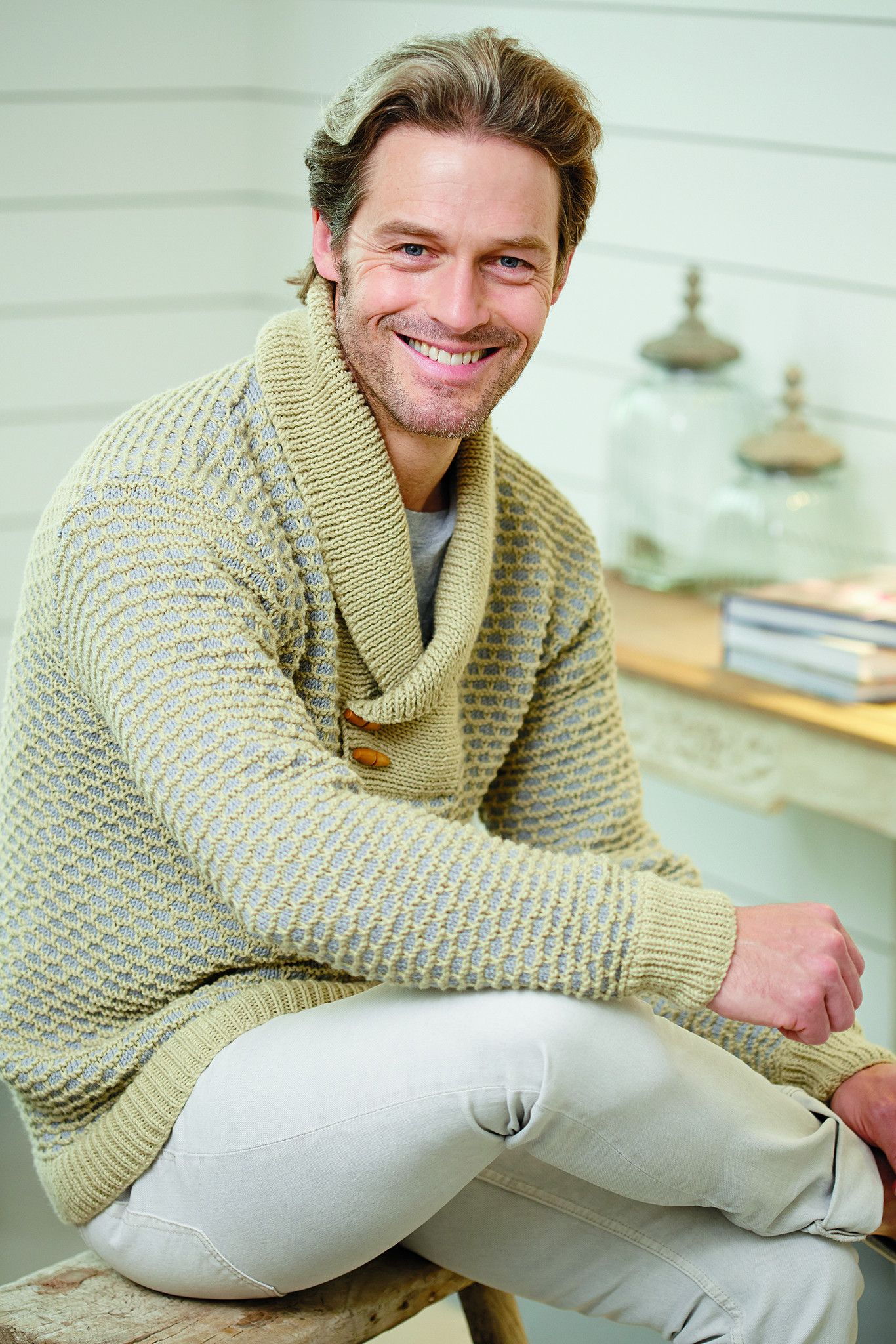 Mens Jumper With Toggles Knitting Pattern