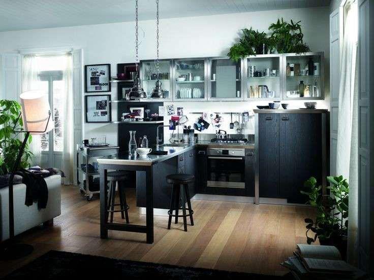 Cucine ad angolo - Cucina ad angolo piccola nera | Pinterest | Kitchens