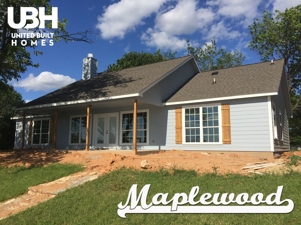 We Love The Gentle Contrast Of The Natural Wood And Light Blue Of This Maplewood Home From Our Fort Worth Custom Home Builders Home Builders Ranch House Plans
