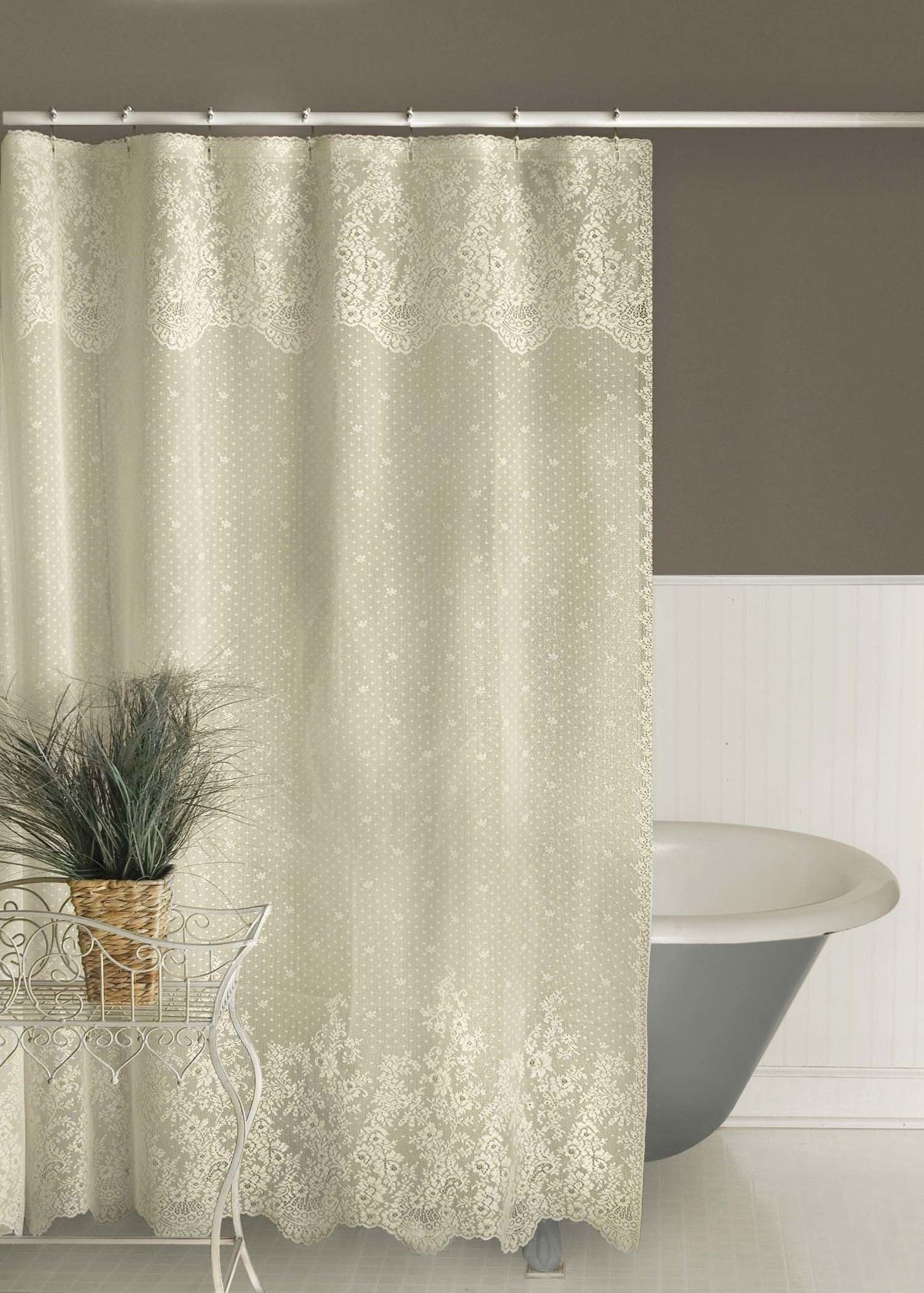 Victor Single Shower Curtain Lace Shower Curtains Vintage