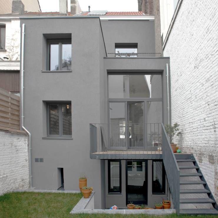cooles reihenhaus mit frischen ideen reihenhaus stadthaus und umbau. Black Bedroom Furniture Sets. Home Design Ideas