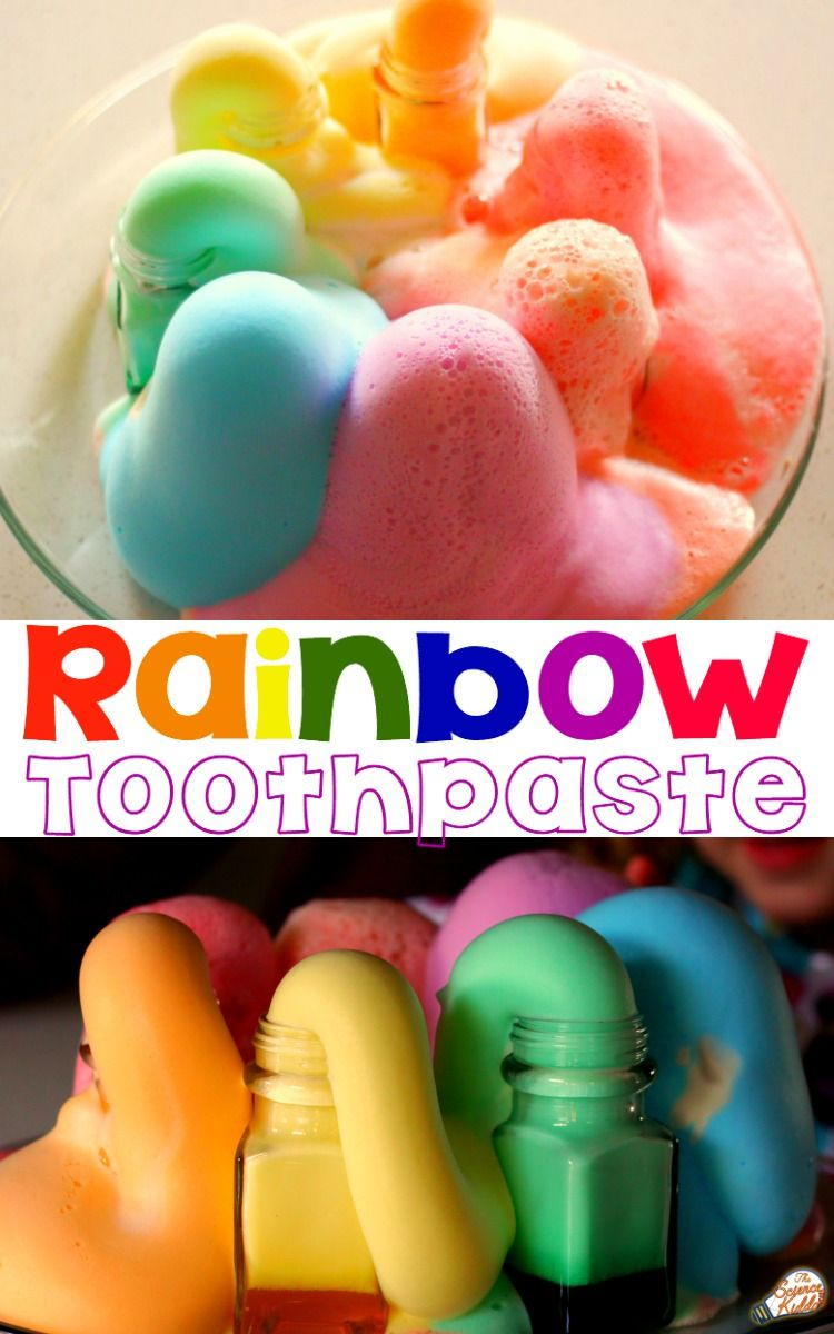 Rainbow Unicorn Toothpaste Science Experiment Science Experiments Kids Easy Science Science Activities For Kids