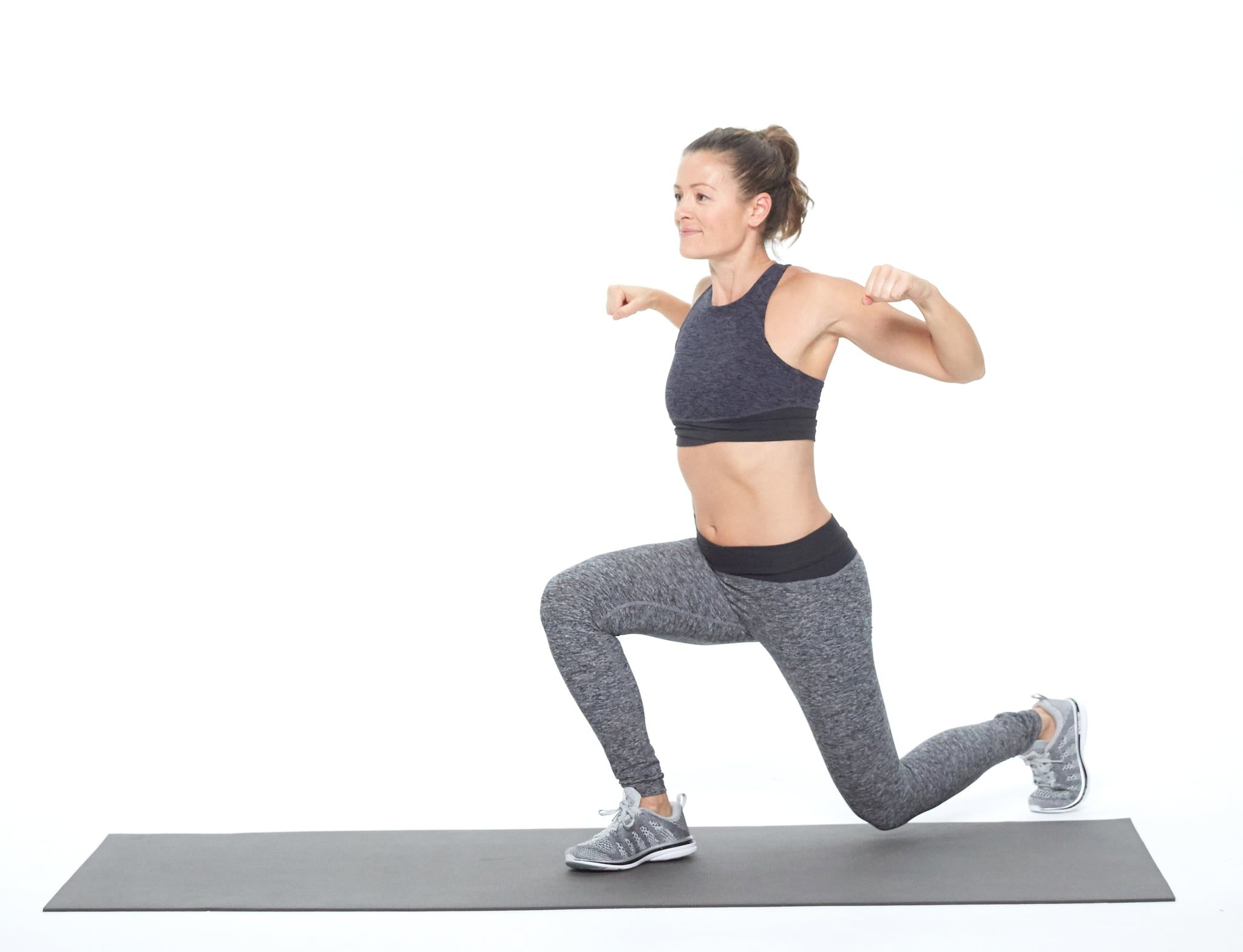 Alternating Lunge With Shoulder Squeeze With Images