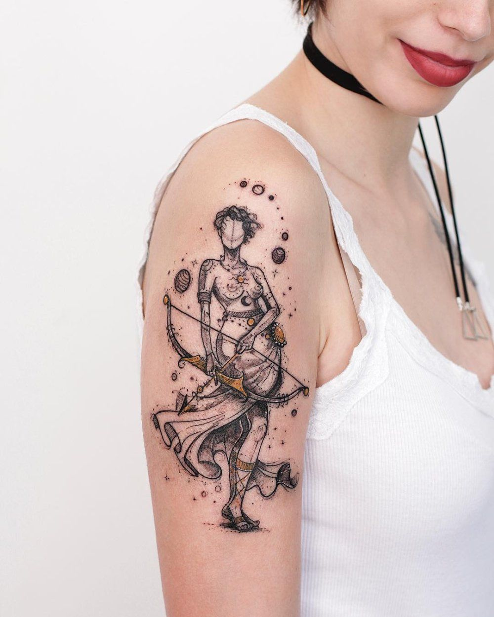 Illustrative tattoos with a lot of heart