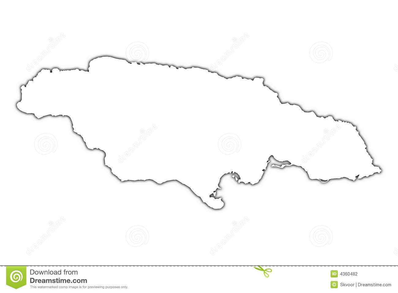 Jamaica Outline Map Stock Photography  Image 4360482  Kids