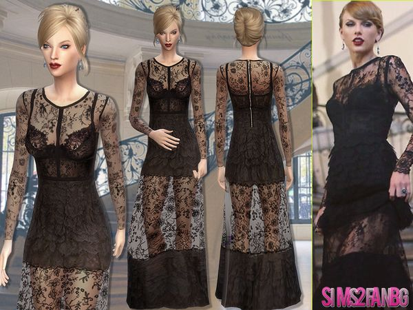 The Sims Resource: 55   Taylor Swift dress by sims2fanbg