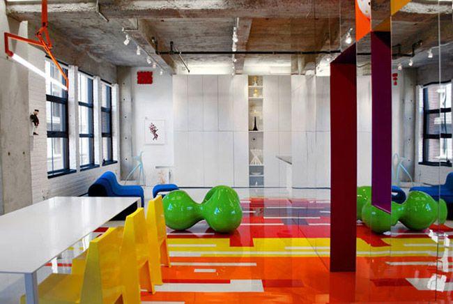 Loft Architektur designer loft in montreal farbenfroh modern und stilsicher