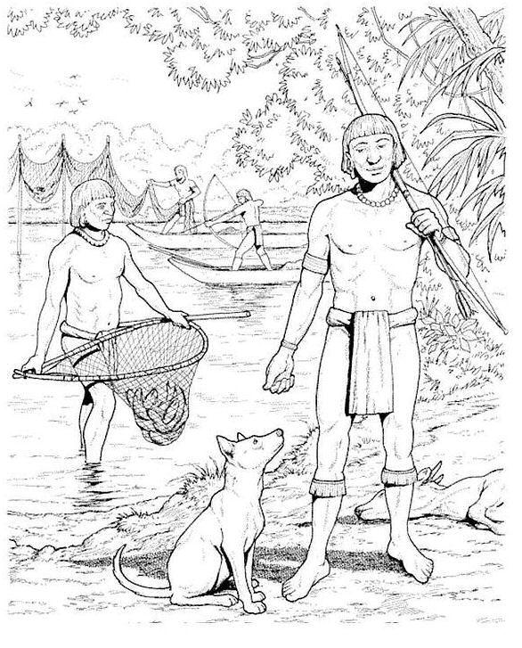 14 coloring pages of Aztecs on Kids-n-Fun.co.uk. On Kids-n