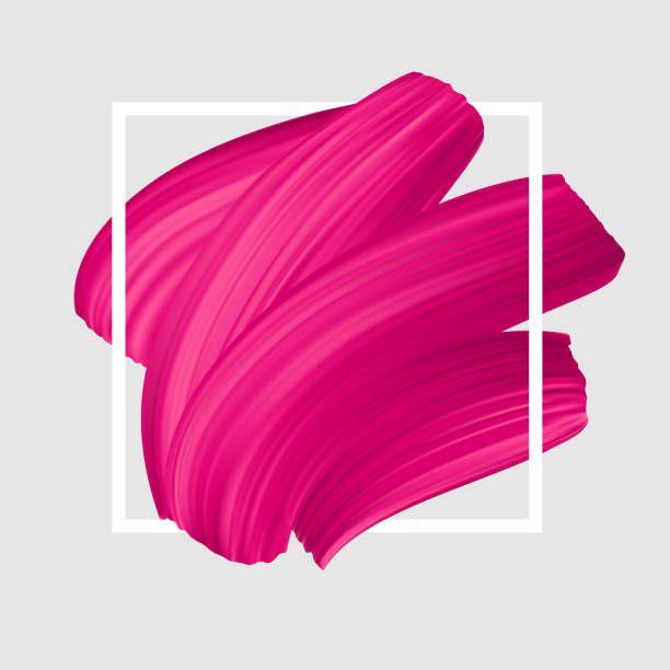 Pink Vector Lipstick Smear Female Girly Symbol Paint Brush Stroke Girly Logo Girly Graphic Design Instagram Highlight Icons