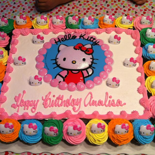 Hello Kitty cakecupcakes Hello Kitty Pinterest Hello kitty
