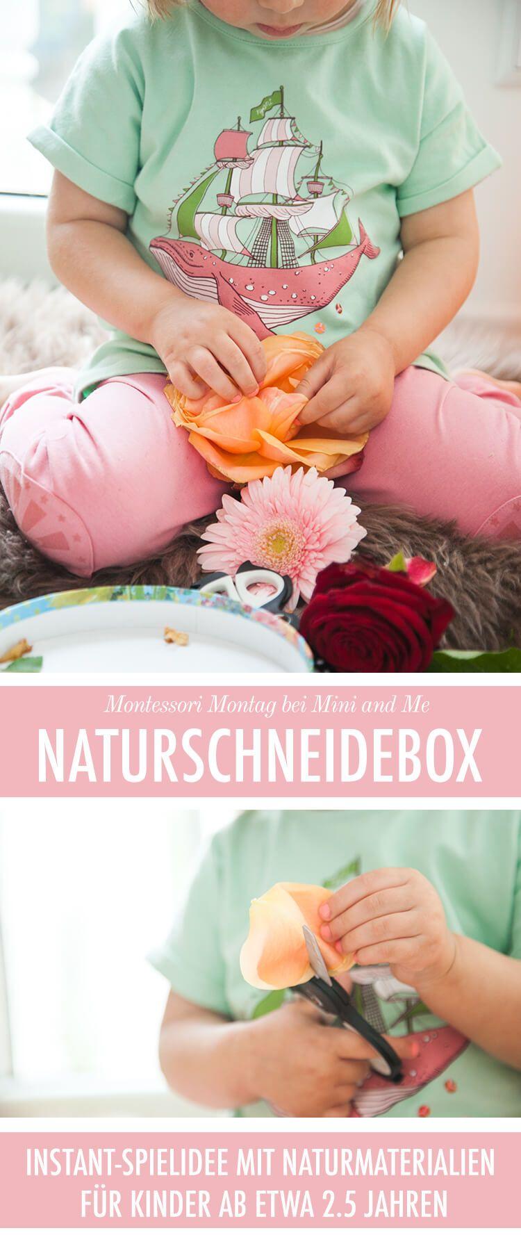 Die Naturschneidebox: eine pädagogisch wertvolle Instant-Spielidee (die auch noch Spaß macht) via @miniandmeblog