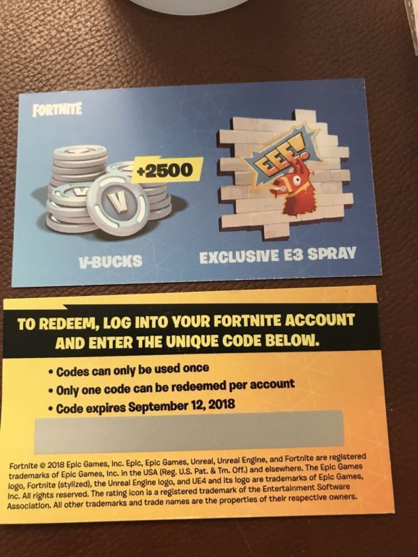 how to enter vbuck codes
