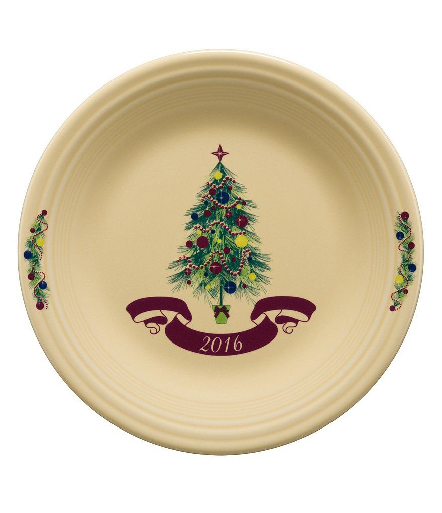 Fiesta® Christmas Tree 2016 Collector´s Plate approximately from the Christmas Tree collection by Fiesta® Dinnerware. This plate features the festive ...  sc 1 st  Pinterest & Fiesta® Christmas Tree 2016 Collector´s Plate: approximately 10.5 ...