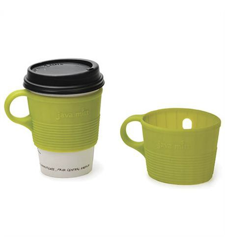 Silicone Java Mitt Insulating Coffee Cup Sleeve With Handle