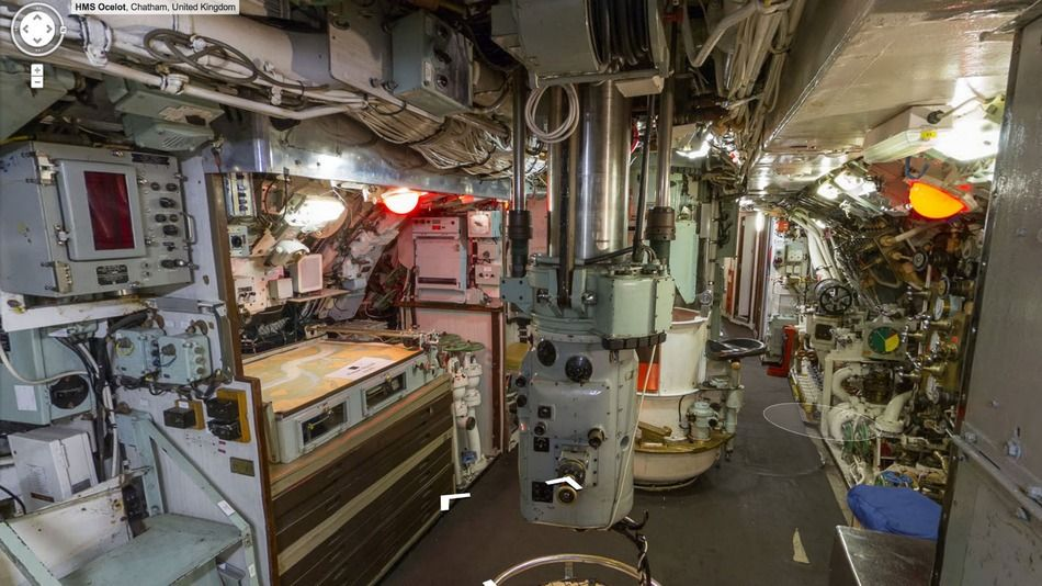 See the inside of a submarine on google street view navy for Cabine nei pini logan oh