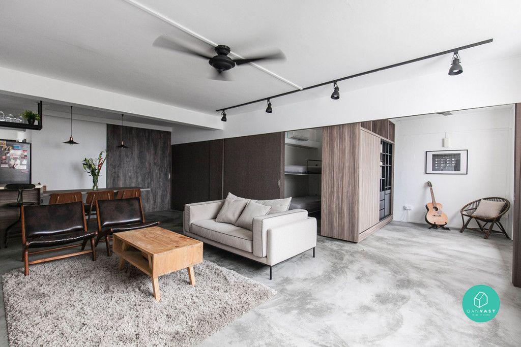 The Design Abode Neutral Minimalist Living Room
