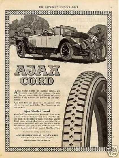 Ajax Cord Tires (1919)