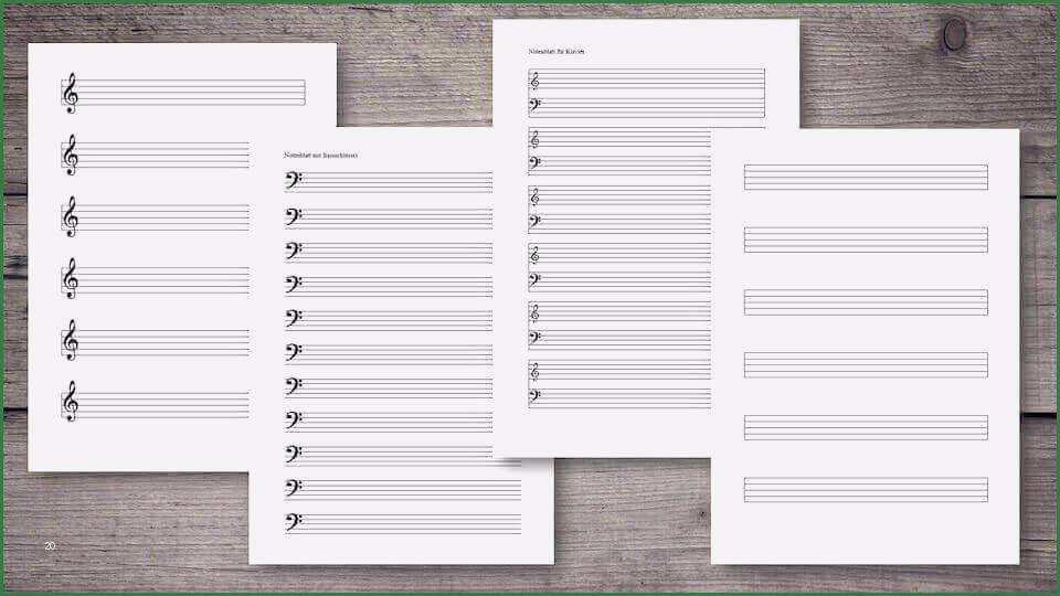 15 Hervorragend Notenheft Vorlage Ausdrucken 2020 In 2020 Notenblatt Notenschlussel Ausdrucken