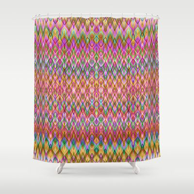 Lovely Missoni Style Shower Curtain